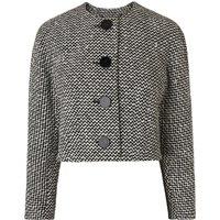 Yves Black White Cotton Jacket