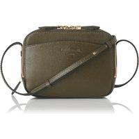 Mariel Khaki Leather Shoulder Bag