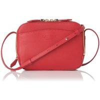 Mariel Red Grained Leather Shoulder Bag