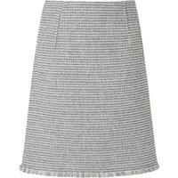Josie Cream Navy Cotton Skirt