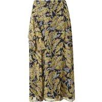 Kimi Blue Yellow Silk Skirt