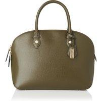 Camilla Khaki Leather Tote Bag