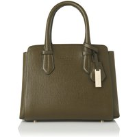Cassandra Khaki Leather Tote Bag