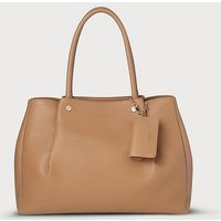 Regan Tan Leather Tote Bag, Light Tan