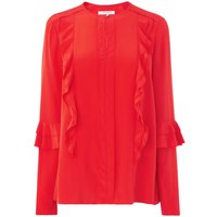 Renie Red Silk Woven Top