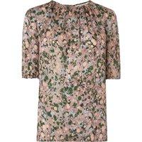 Sukie Pink Multi Silk Woven Top