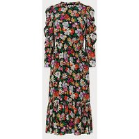 Alissa Silk Floral Dress, Multi
