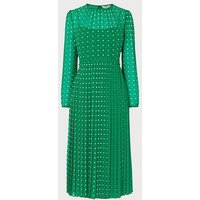 Avery Green Polka Dot Midi Dress, Green