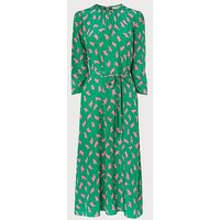 Dorothy Green Sail Print Silk Midi Dress, Green