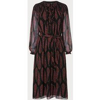 Getty Black Multi Silk Dress, Black Multi