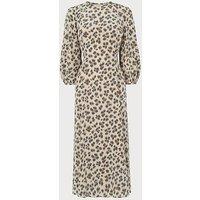 Kaia Leopard Print Silk Midi Dress, Animal