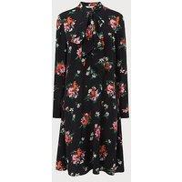 Lotte Floral Silk Dress, Multi
