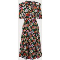 Montana Silk Floral Dress, Multi