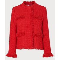 Myia Red Tweed Jacket, True Red