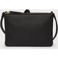 Bene Black Leather Shoulder Bag, Black