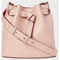 Gabrielle Pink Leather Shoulder Bag, Pink