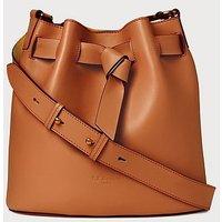 Gabrielle Tan Leather Shoulder Bag, Tan
