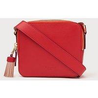 Marion Red Leather Shoulder Bag, Red