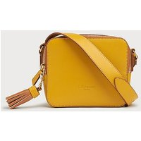 Marion Yellow Leather Shoulder Bag, Yellow
