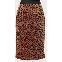 Loe Leopard Print Skirt, Animal