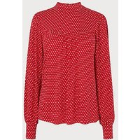 Mabyl Red Polka Dot Jersey Top, Red