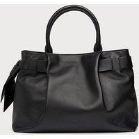 Gemma Black Leather Tote Bag, Black