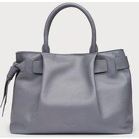 Gemma Dove Leather Tote Bag, Grey