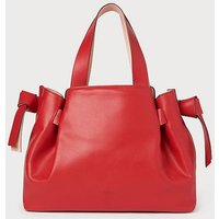 Geraldine Red Leather Tote Bag, Red