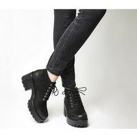 Vagabond Dioon Lace Up Boot BLACK NUBUCK