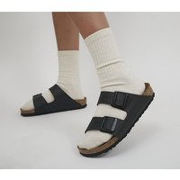 Birkenstock Arizona Two Strap BLACK BIRKO FLOR