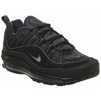 Nike Air Max 98 BLACK METALLIC SILVER OL GREY VAST GREY