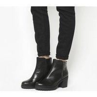Vagabond Grace Side Zip boots BLACK LEATHER
