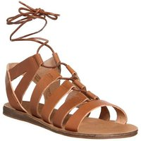 Office Odessa Lace Front Sandals TAN LEATHER