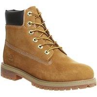 Timberland Juniors 6 Inch Premium Waterproof Boots WHEAT NUBUCK
