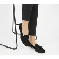 Office Retro Tassel loafers BLACK SUEDE
