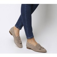 Office Retro Tassel Loafers TAUPE SUEDE