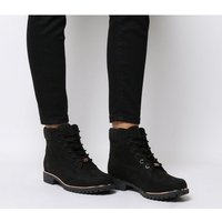 Timberland Slim Premium 6 Inch Boot BLACK ROSE GOLD RAND