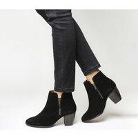 Office Justine Double Zip Boot BLACK SUEDE