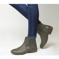 Office Lone Ranger Casual Chelsea Boots GREY LEATHER