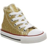 Converse Small Star Hi Canvas GOLD GLITTER WHITE