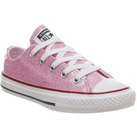 Converse All Star Low Youth PINK FOAM GLITTER WHITE