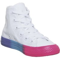 Converse All Star Hi Mid Sizes WHITE RACER PINK BLACK