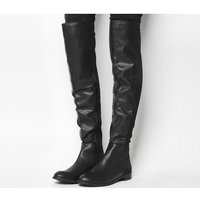Office Kiwi Flat Over The Knee Boots BLACK