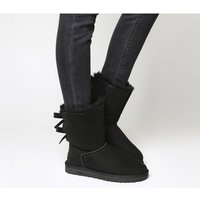 UGG Bailey Bow II Calf Boots BLACK SUEDE