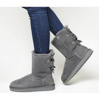 UGG Bailey Bow Ii Calf Boots GREY SUEDE