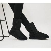 UGG Classic Short II Boots BLACK SUEDE 2682300079