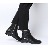 shop for Office Ashleigh Flat Ankle Boots BLACK LEATHER WITH CHAIN at Shopo
