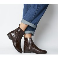shop for Office Ashleigh Flat Ankle Boots CHOC LEATHER at Shopo