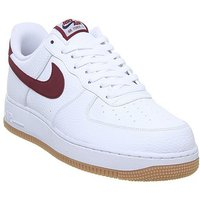 Nike Air Force 1 07 WHITE TEAM RED GUM MED BROWN