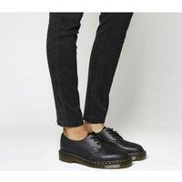 'Dr. Martens 3 Eyelet Shoe Black Virginia